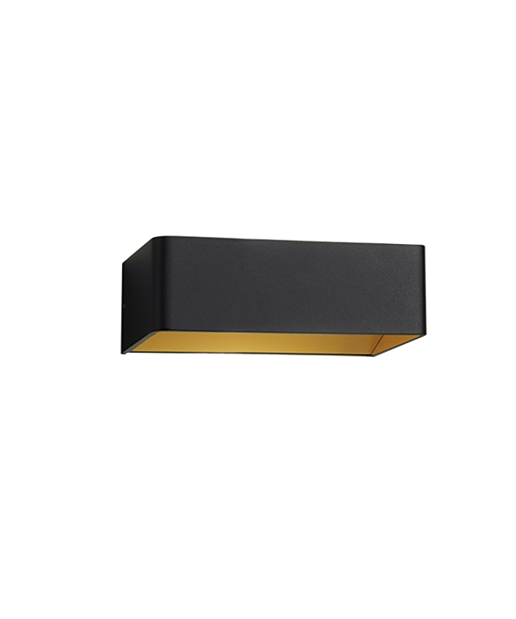 Image of   Mood 2 LED Væglampe Sort/Guld - LIGHT-POINT