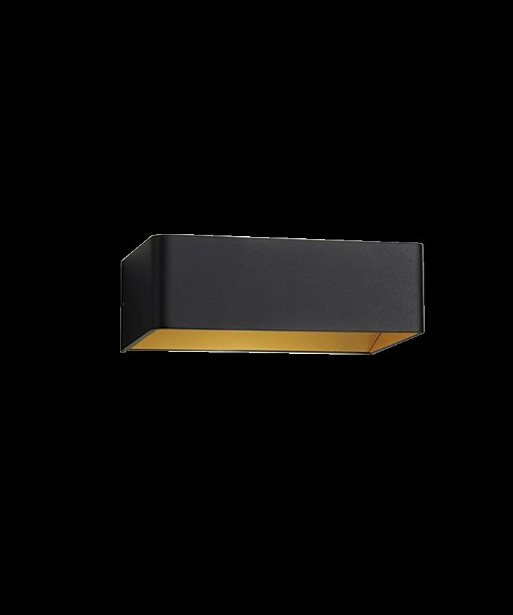Image of   Mood 2 LED Væglampe Sort/Guld - LIGHT-POINT