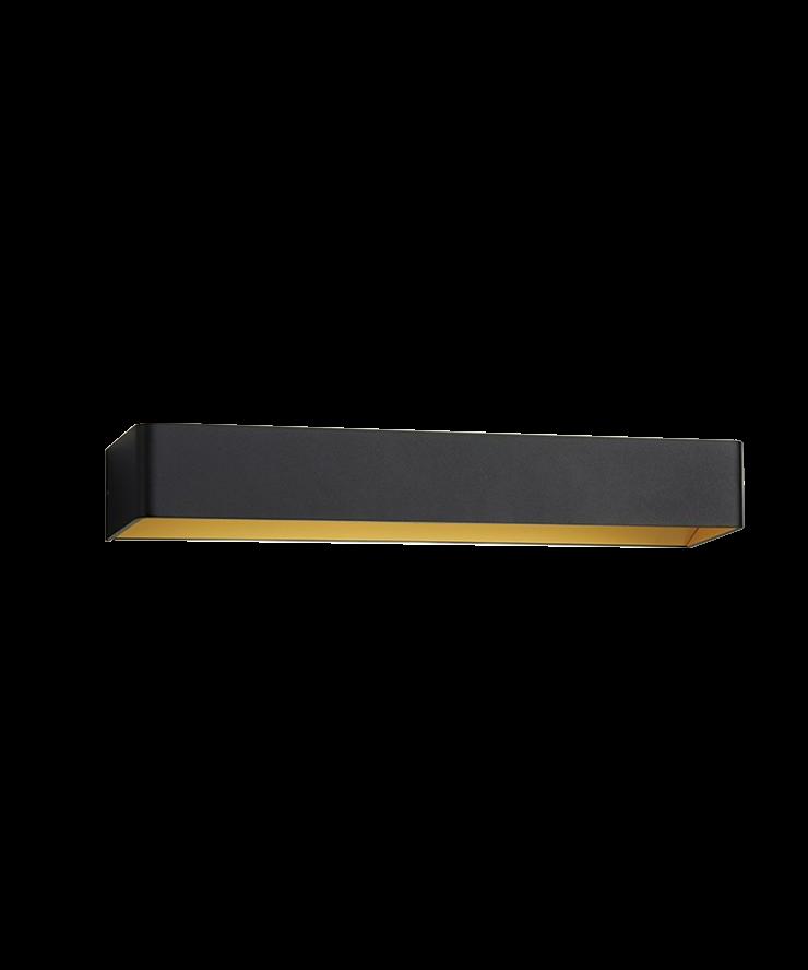 Image of   Mood 3 LED Væglampe Sort/Guld - LIGHT-POINT