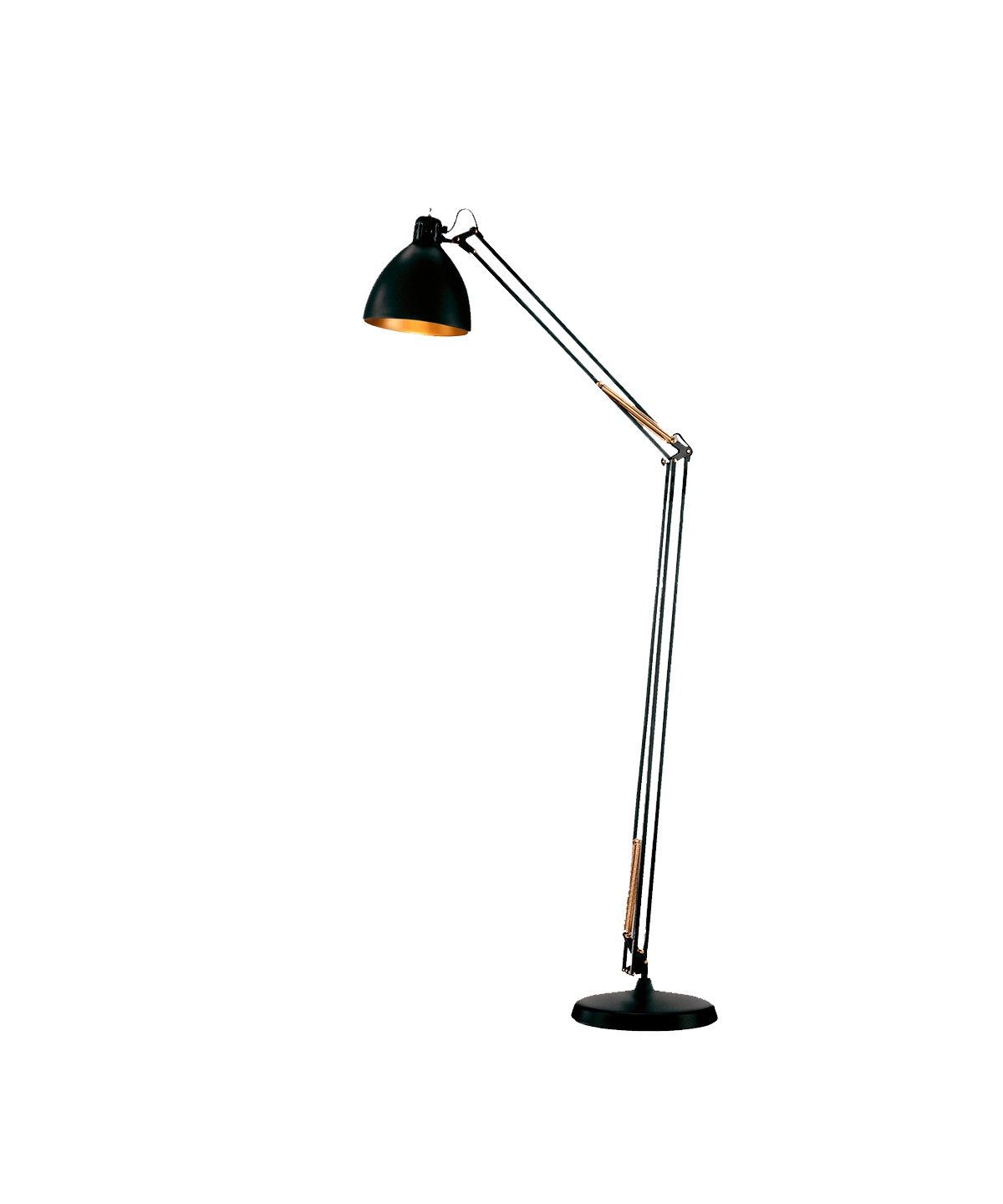 Image of   Archi F1 Gulvlampe Ø16 Sort/Guld - LIGHT-POINT