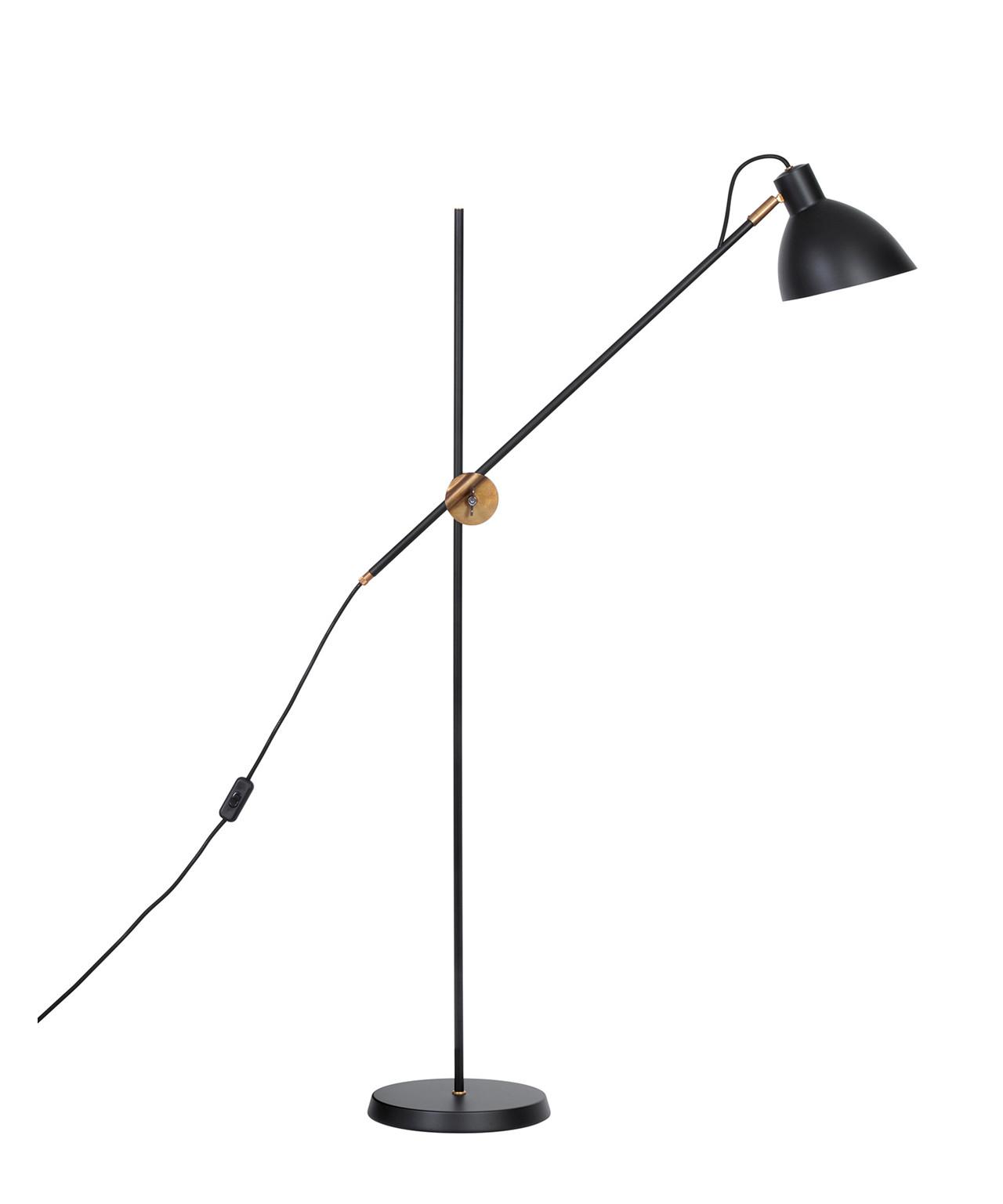 Image of   KH#1 Sort Så Messing Gulvlampe - KonstHantverk