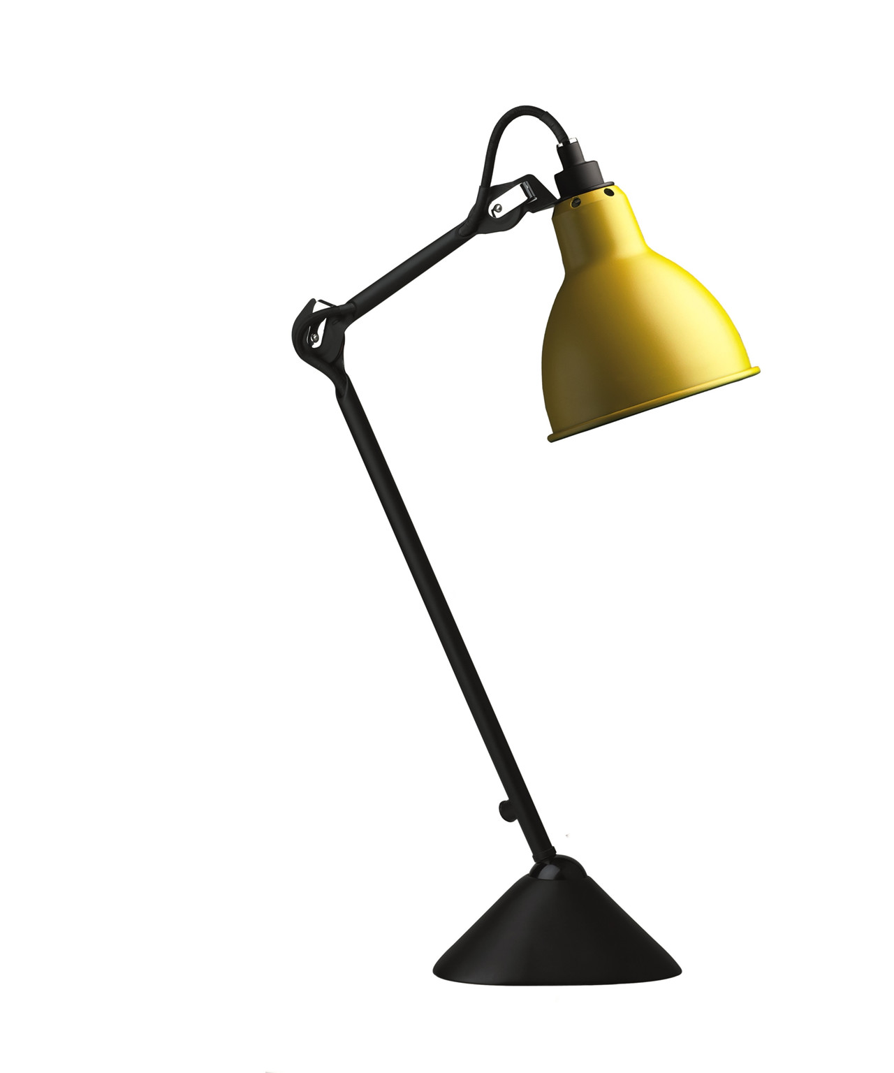 Image of   205 Bordlampe Gul/Sort - Lampe Gras