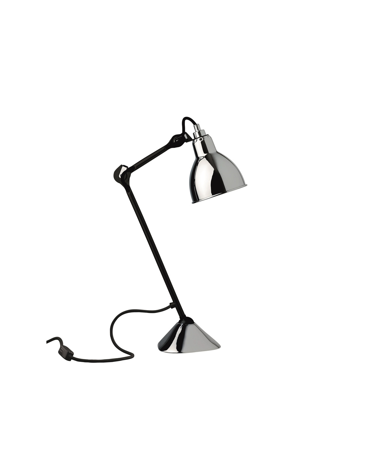 Image of   205 Bordlampe Krom/Sort - Lampe Gras