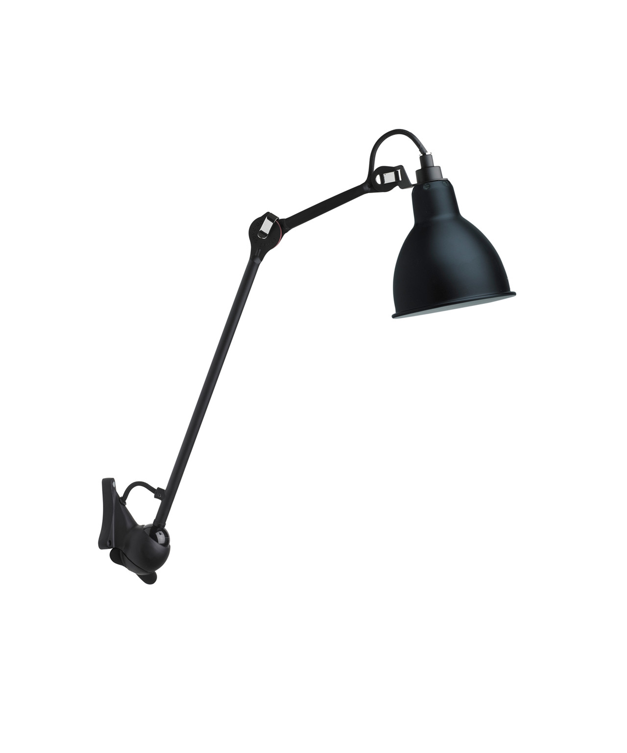Image of   222 Væglampe Sort/Satin - Lampe Gras