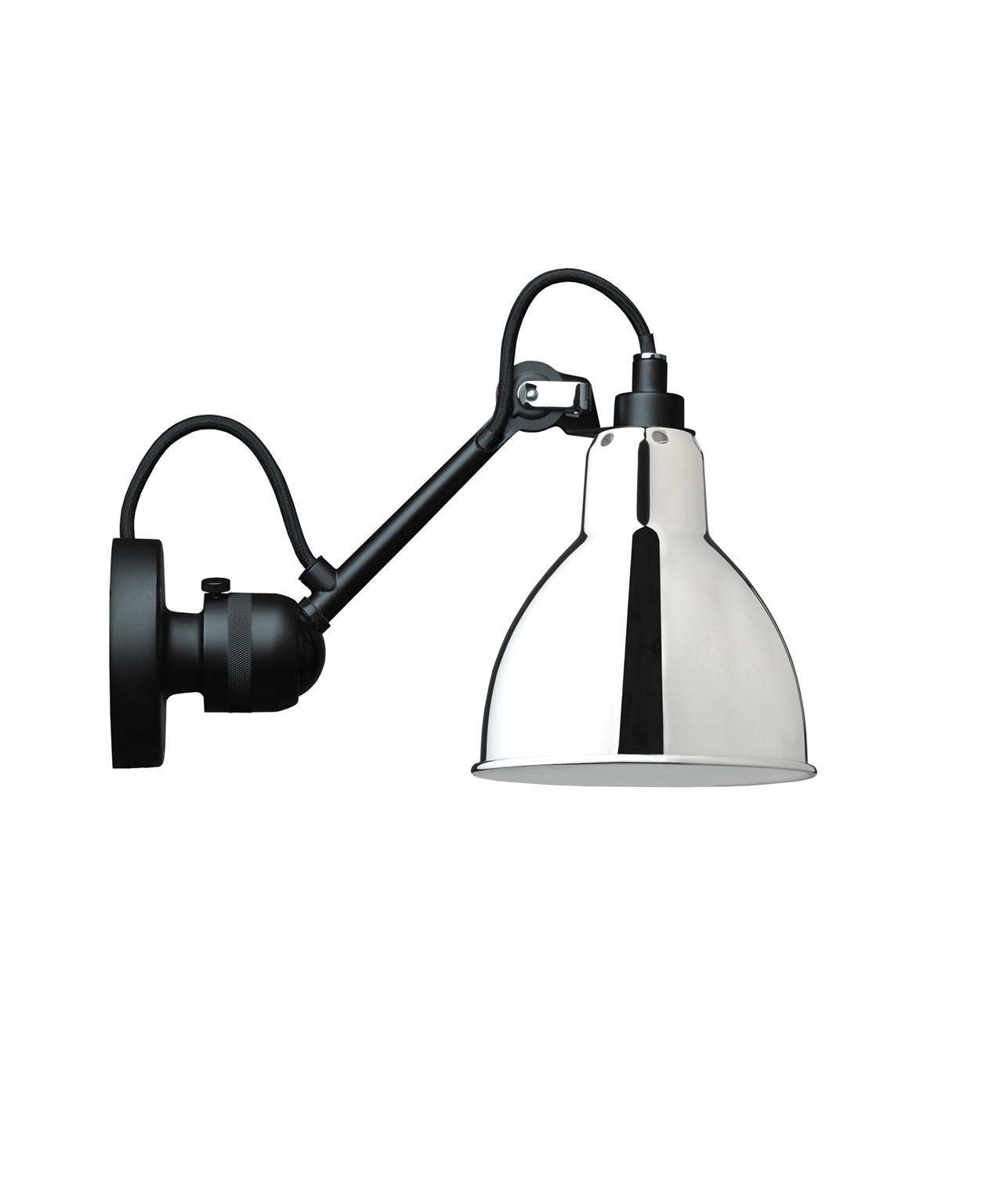 Image of   304 Væglampe Krom/Glossy - Lampe Gras