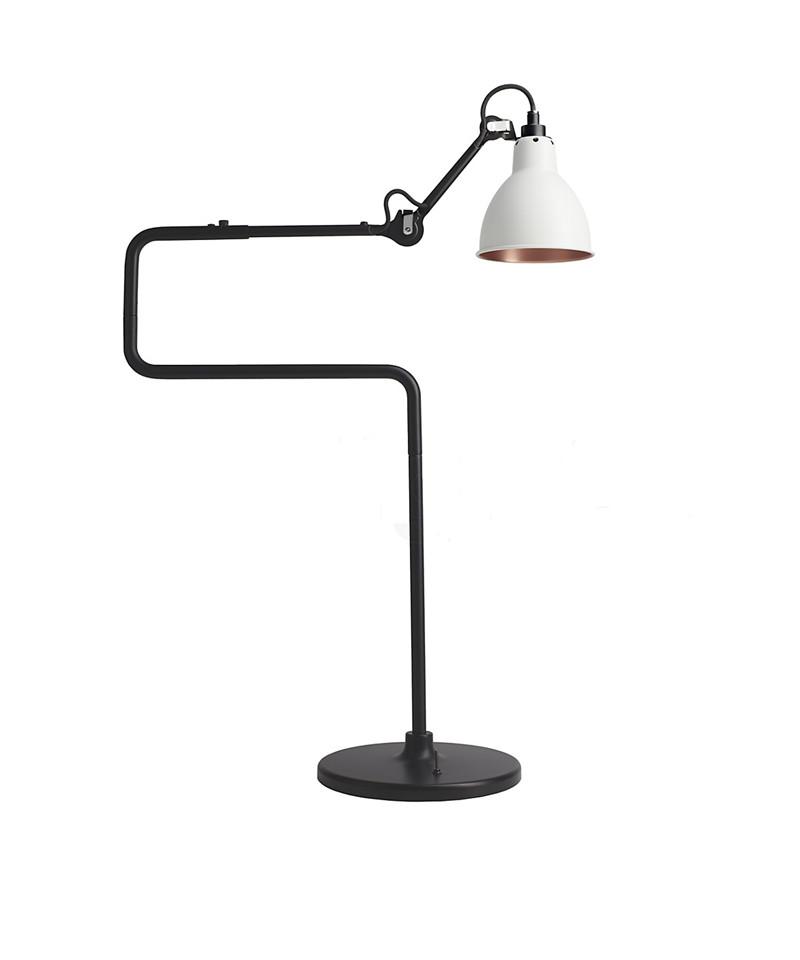 317 bordlampe sort/hvid/kobber - lampe gras fra N/A på lampemesteren.dk