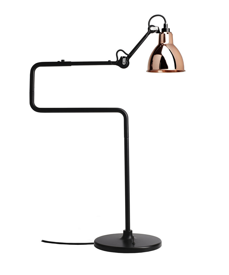 Image of   317 Bordlampe Sort/Kobber - Lampe Gras