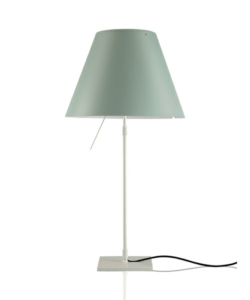 Image of   Costanza Bordlampe m/Dimmer Alu/Comfort Green - Luceplan