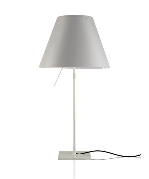 Image of   Costanza Bordlampe m/Dimmer Alu/Mistic White - Luceplan