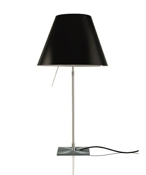 Image of   Costanza Bordlampe m/Dimmer Alu/Liquorice Black - Luceplan