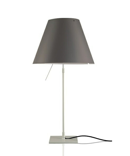 Image of   Costanza Bordlampe m/Dimmer Alu/ Concrete Grey - Luceplan