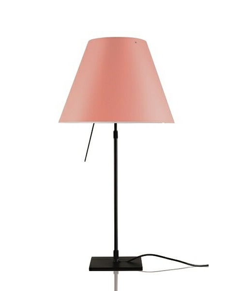 Image of   Costanza Bordlampe m/Dimmer Sort/Edgy Pink - Luceplan