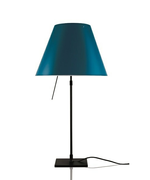 Image of   Costanza Bordlampe m/Dimmer Sort/Petroleum Blue - Luceplan