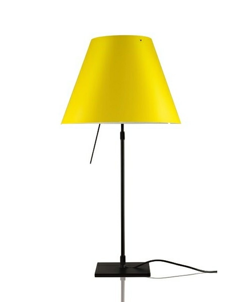 Image of   Costanza Bordlampe m/Dimmer Sort/Smart Yellow - Luceplan