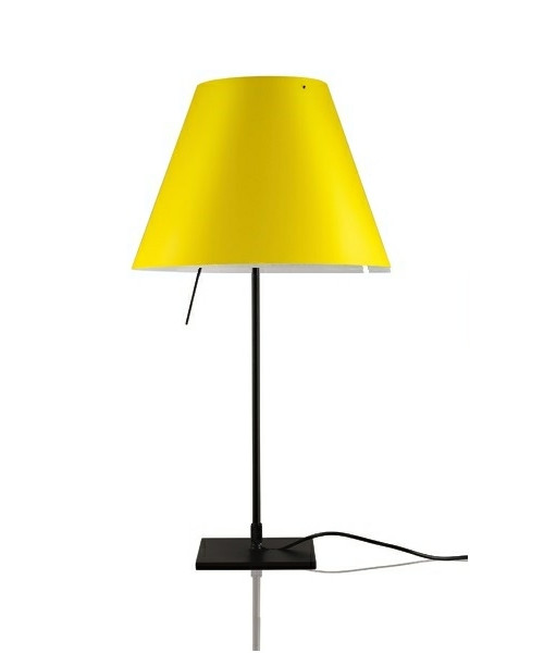 Image of   Costanzina Bordlampe Sort/Smart Yellow - Luceplan