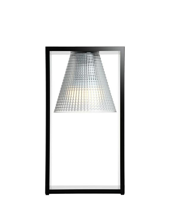 Image of   Light Air Bordlampe Sculped Sort/Krystal - Kartell