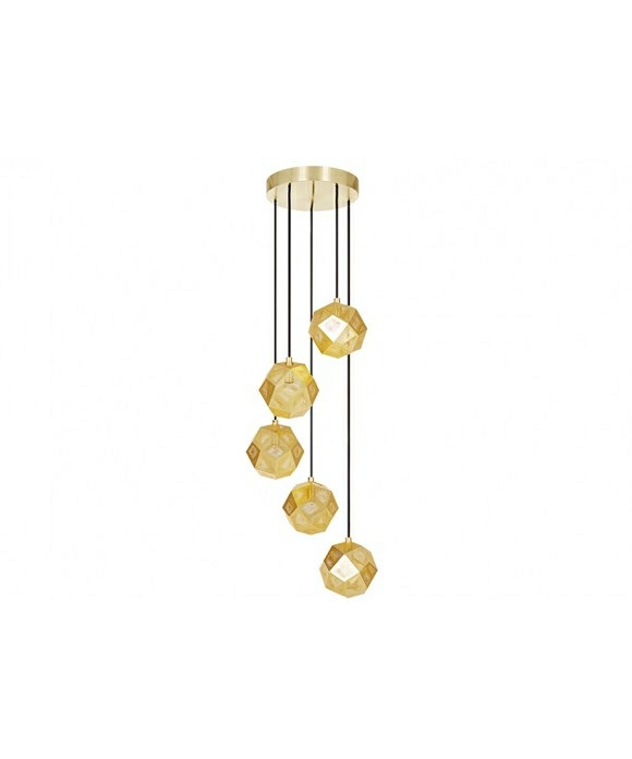 Image of   Etch Mini Chandelier Messing - Tom Dixon