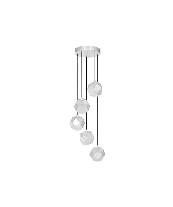 Image of   Etch Mini Chandelier Soft Silver - Tom Dixon