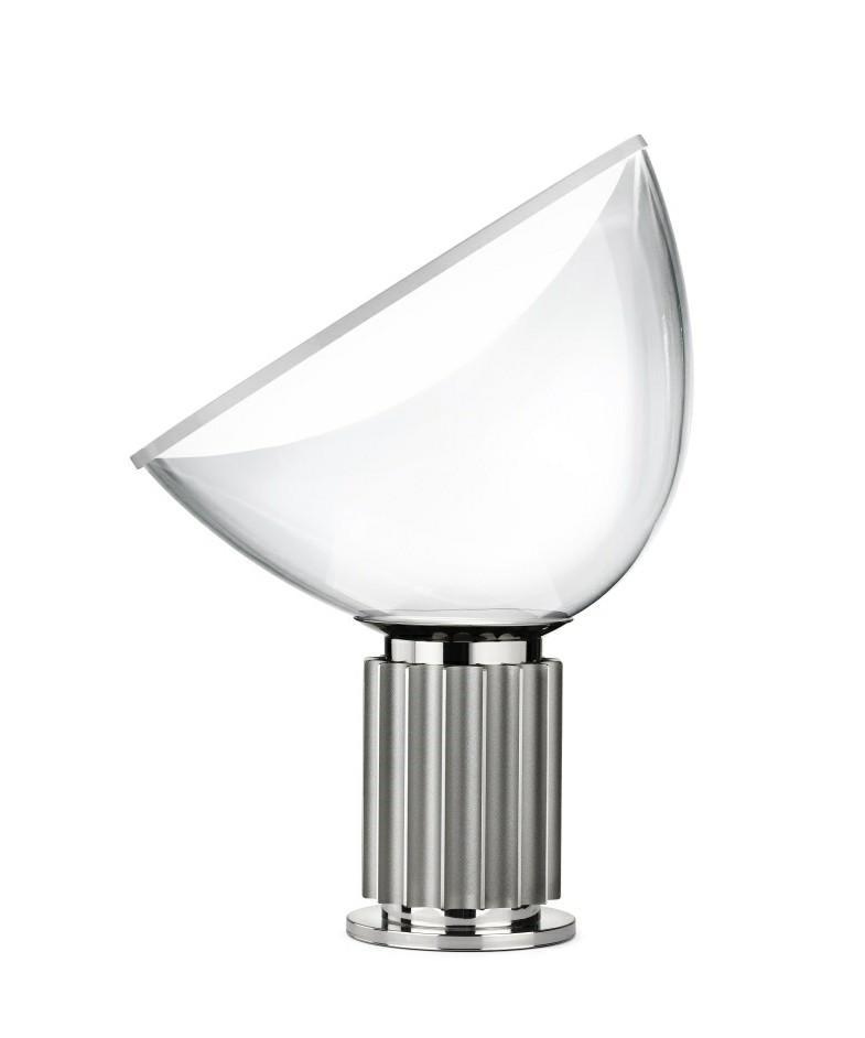 taccia pmma bordlampe silver flos. Black Bedroom Furniture Sets. Home Design Ideas