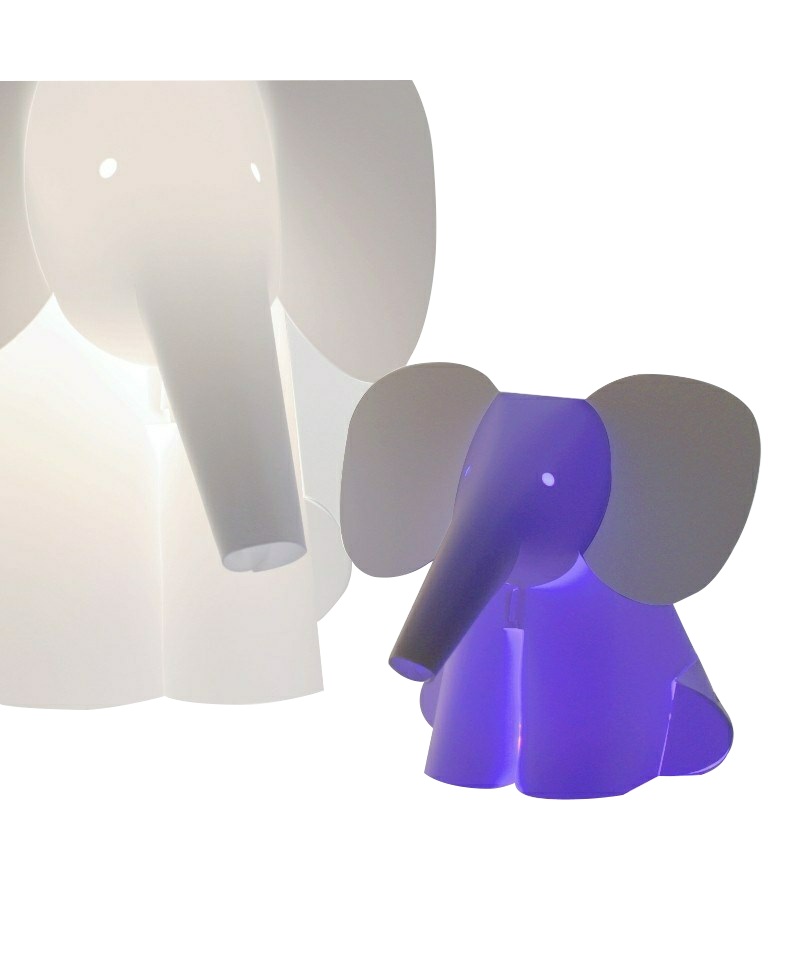 Mini zoolight elefant bordlampe - intermezzo fra Zoolight fra lampemesteren.dk