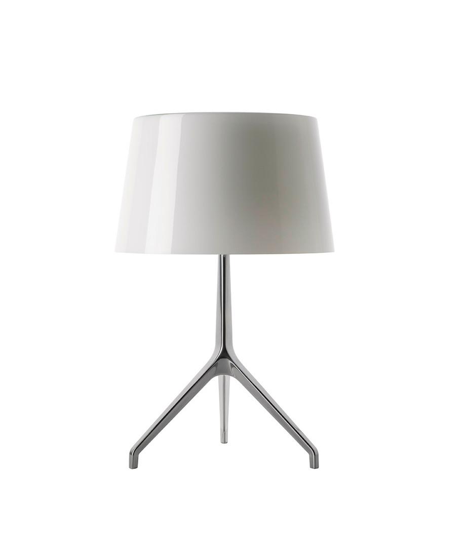 Image of   Lumiere XXL Bordlampe Alu/Hvid - Fosccarini