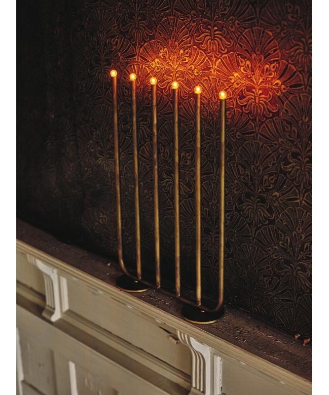 december r messing bordlampe 6 arme konsthantverk. Black Bedroom Furniture Sets. Home Design Ideas