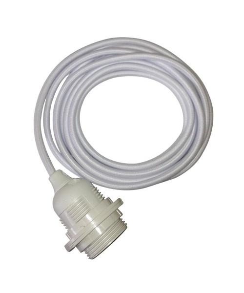 N/A Fatning m/3m ledning hvid/hvid - hey there hi fra lampemesteren.dk