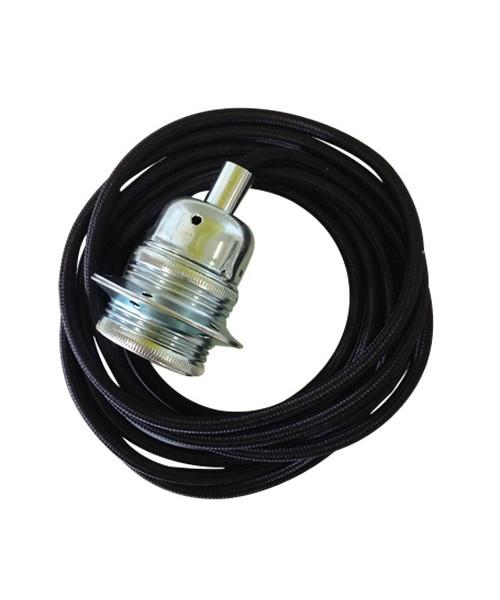 Image of   Fatning m/3m Ledning Sølv/Black - Artecnica