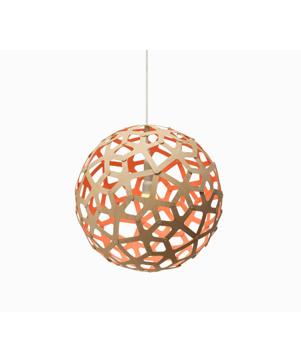 David trubridge – Coral orange pendel - david trubridge fra lampemesteren.dk