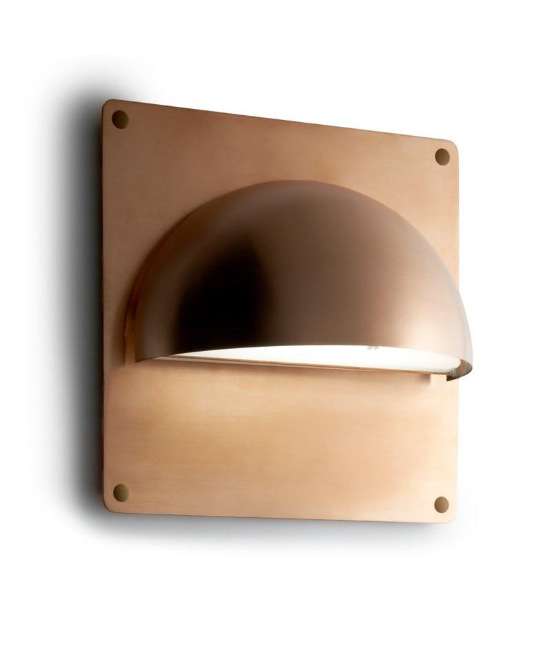 Rorhat Bagplade XL 30X30cm Rå Kobber LIGHT POINT