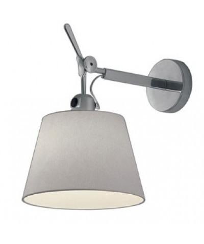 Artemide Tolomeo parete diffusore væglampe Ø32 grå satin - artemide på lampemesteren.dk