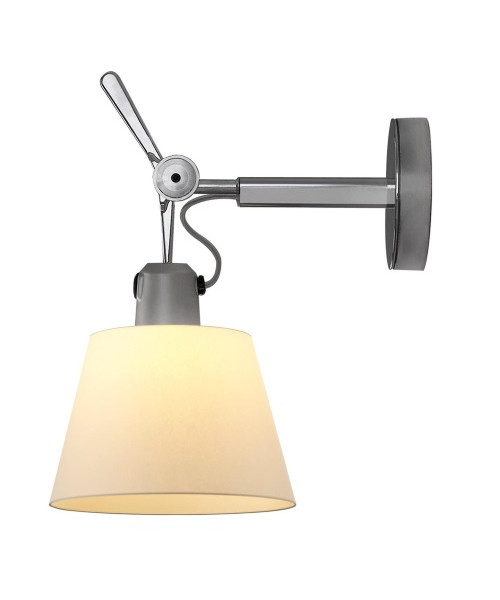 Artemide Tolomeo parete diffusore væglampe Ø32 pergament - artemide på lampemesteren.dk