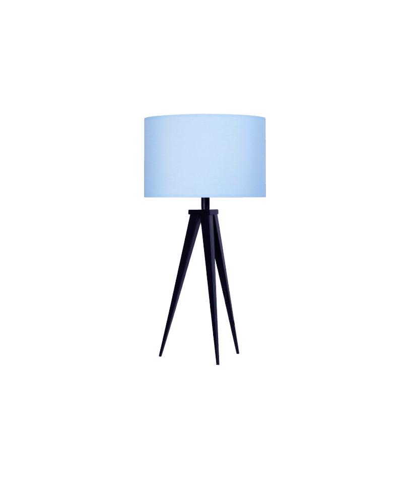 Darø Paso 35 t1 uni bordlampe sort/sky blå - darø på lampemesteren.dk