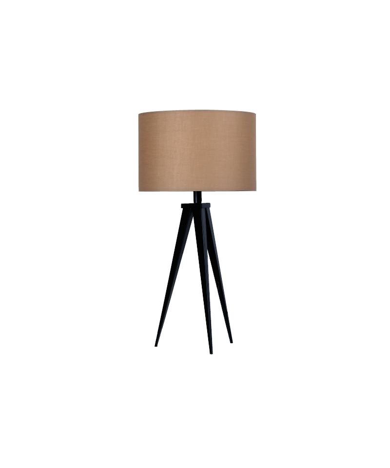 Darø Paso 35 t1 uni bordlampe sort/natur brun - darø fra lampemesteren.dk