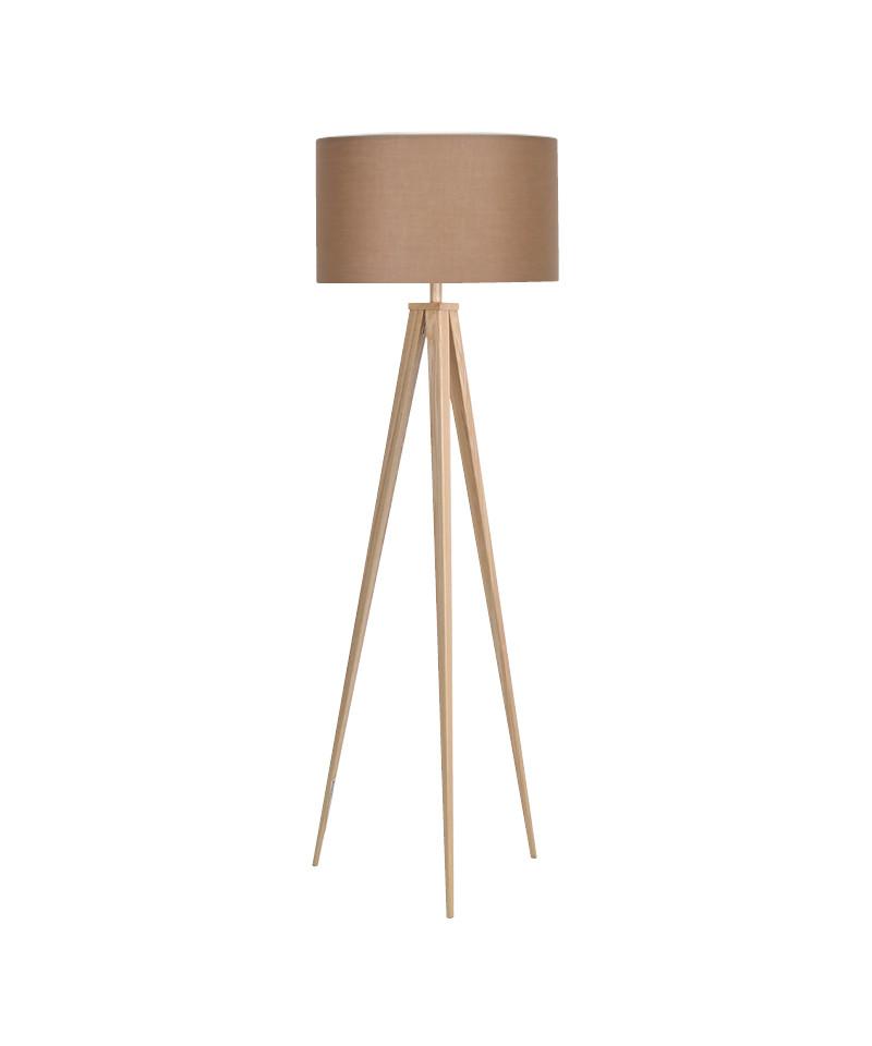 Darø Paso 50 f1 uni gulvlampe eg/natur brun - darø fra lampemesteren.dk