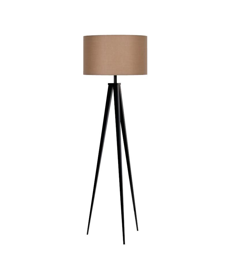 Darø Paso 50 f1 uni gulvlampe sort/natur brun - darø fra lampemesteren.dk
