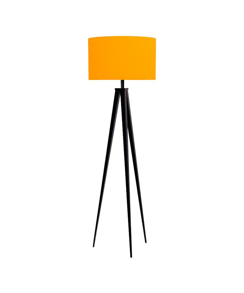 Darø – Paso 50 f1 uni gulvlampe sort/gul - darø på lampemesteren.dk