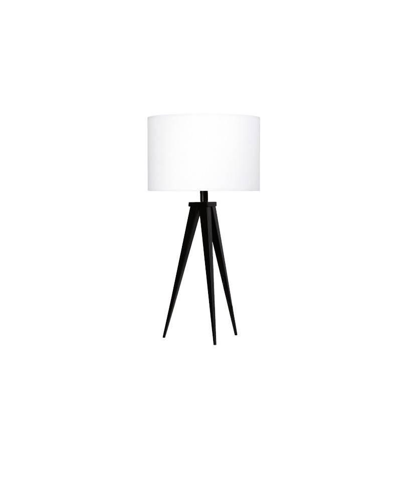 Darø Paso 35 t1 uni bordlampe sort/sne hvid - darø på lampemesteren.dk