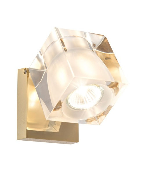Image of   Ice Cube Classic Væglampe/Loftlampe Messing - Fabbian