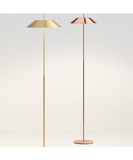 Vibia – Mayfair gulvlampe mat guld - vibia fra lampemesteren.dk