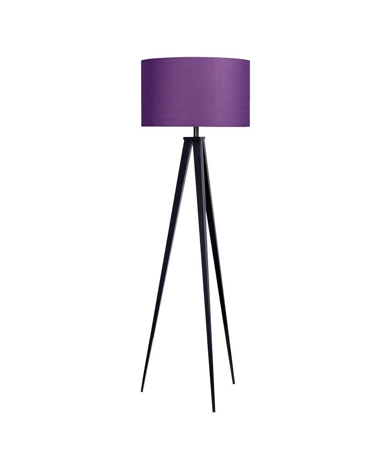 Darø – Paso 50 f1 uni gulvlampe sort/dyb lilla - darø fra lampemesteren.dk