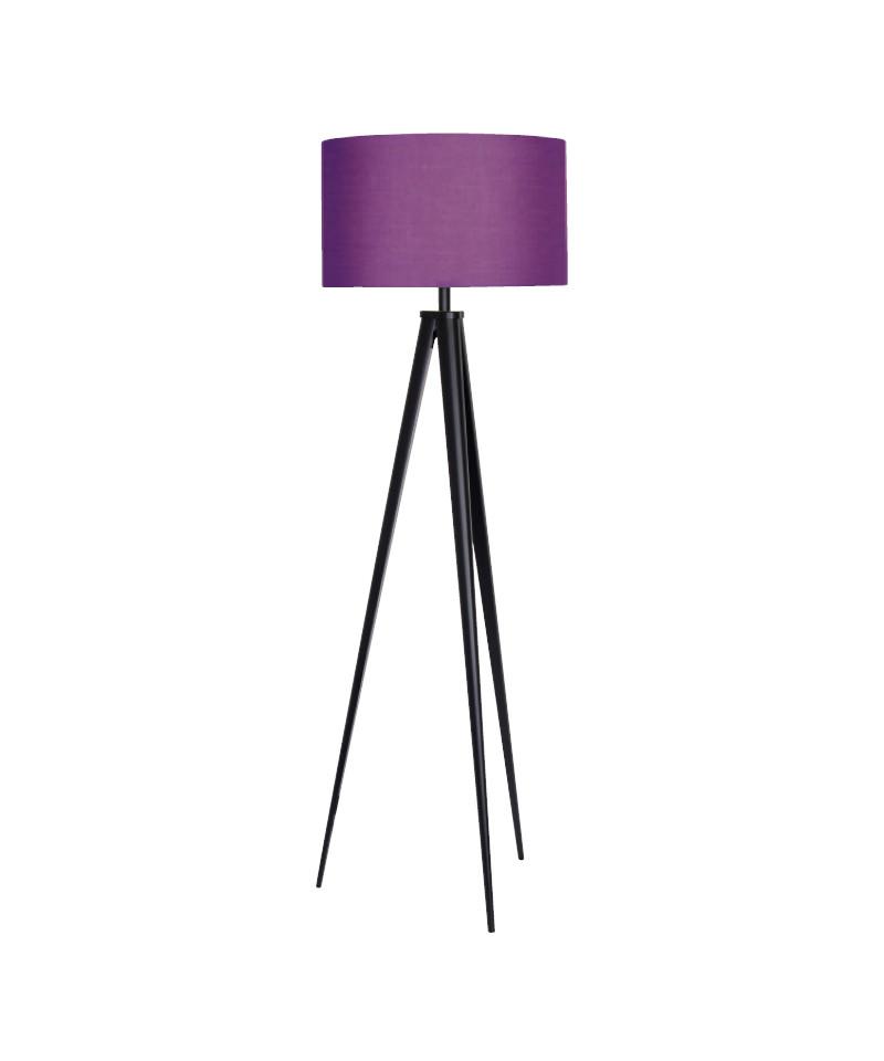 Darø Paso tri 50 f1 uni gulvlampe sort/dyb lilla - darø på lampemesteren.dk