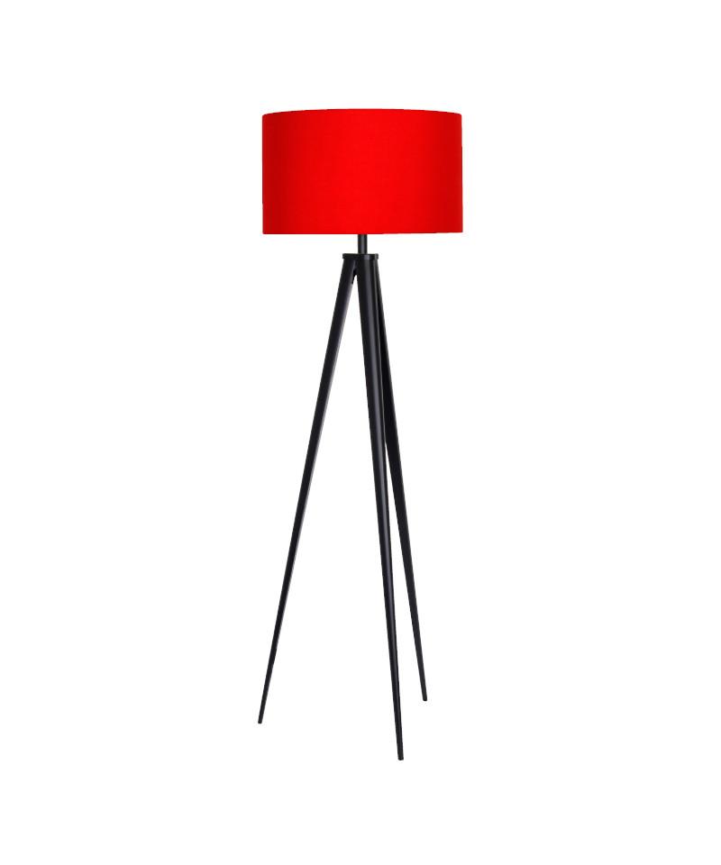 Darø Paso tri 50 f1 uni gulvlampe sort/rød - darø på lampemesteren.dk