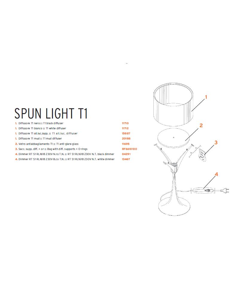 N/A – Reserve glas til spun bord t1 - flos fra lampemesteren.dk