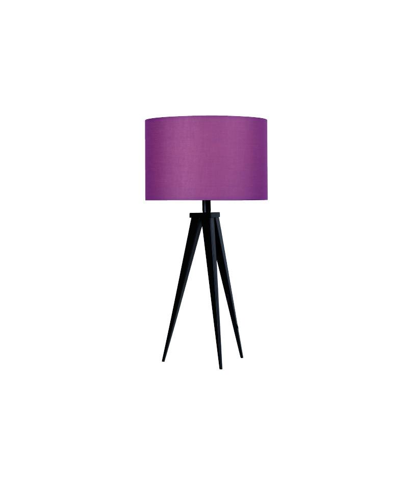 Darø – Paso 35 t1 uni bordlampe sort/dyb lilla - darø fra lampemesteren.dk