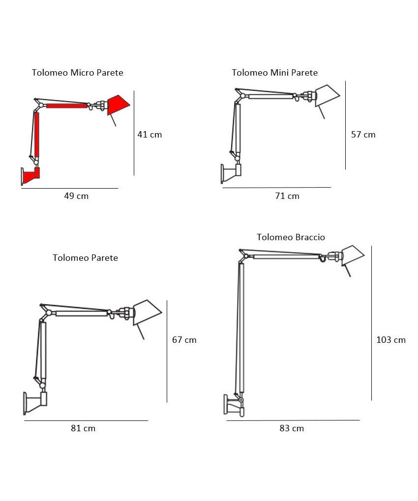 tolomeo micro parete v glampe artemide. Black Bedroom Furniture Sets. Home Design Ideas