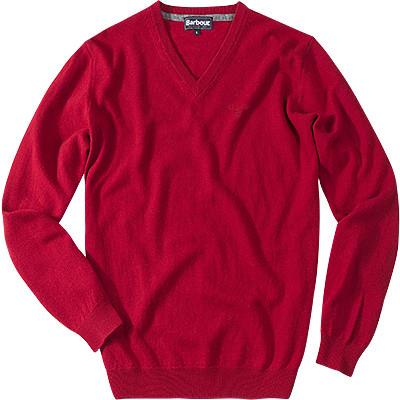 Barbour Essential Striksweater V-hals - Rød