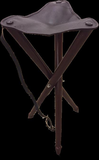Trebenet jagtstol med lædersæde