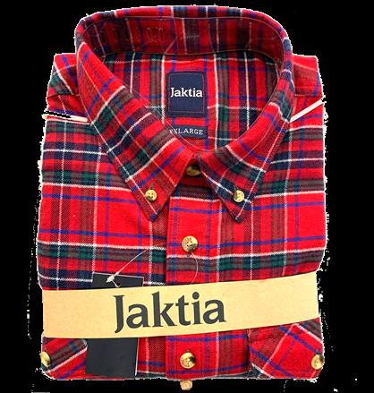 JAKTIA FLANNELSKJORTE - RØD