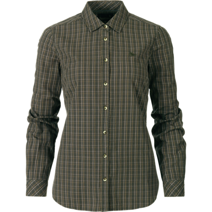 SEELAND Claire Lady Skjorte -Olive Night Check